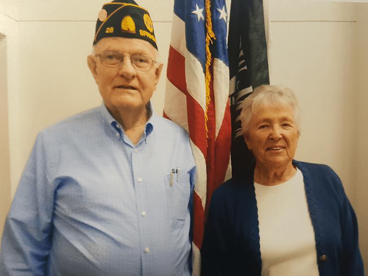 Commander Fred Hurst & Speaker Helen Beardall.
