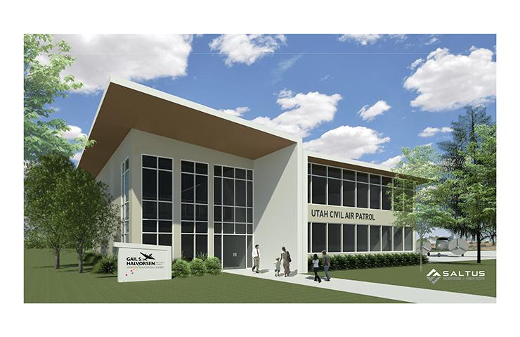 Gail S. Halvorsen Aviation Education Center rendering.