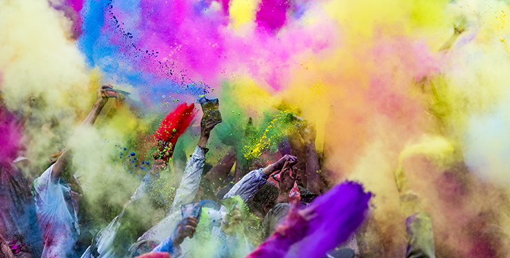 Holi Festival Chalk