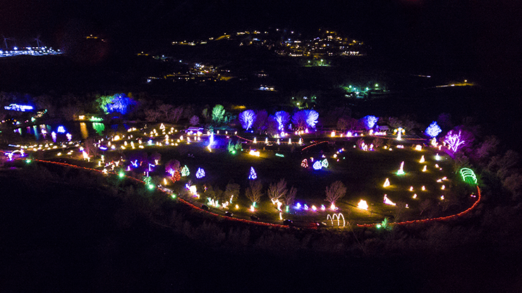 The 24th annual Festival of Lights. Photo by Stephen Parsons.