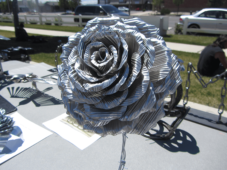 A welded rose. Photo by Danielle Sidwell.