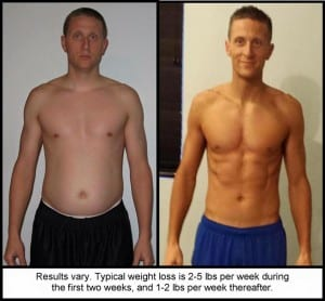 Results vary. Typical weight loss is 2-5 pounds per week during the first two weeks, and 1-2 pounds per week thereafter.